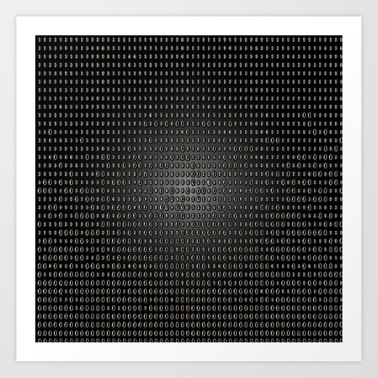 Black Dot Matrix Art Print