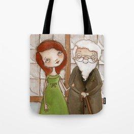 Miracle on 34th Street - Kris Kringle and Doris  Tote Bag