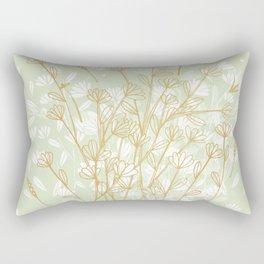 Coockie brown clover on green  Rectangular Pillow