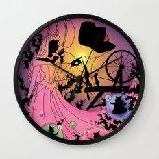 Silhouette Aurora  Wall Clock