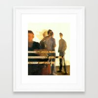 blur Framed Art Prints featuring Blur by Peter Campbell