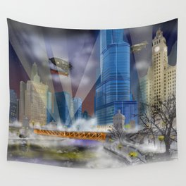 Windy City (Steampunked) Wall Tapestry