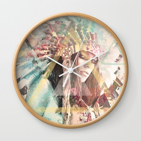 IND Girl Wall Clock