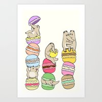 macaroons Art Prints featuring Macaroons by or livneh