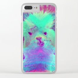 Psychedelic Llama Clear iPhone Case
