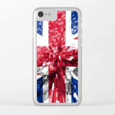 Britain Flag - Extrude Clear iPhone Case