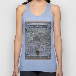 Map Of Antwerp 1624 Unisex Tank Top