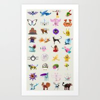 Badly Photoshopped Monsters Art Print