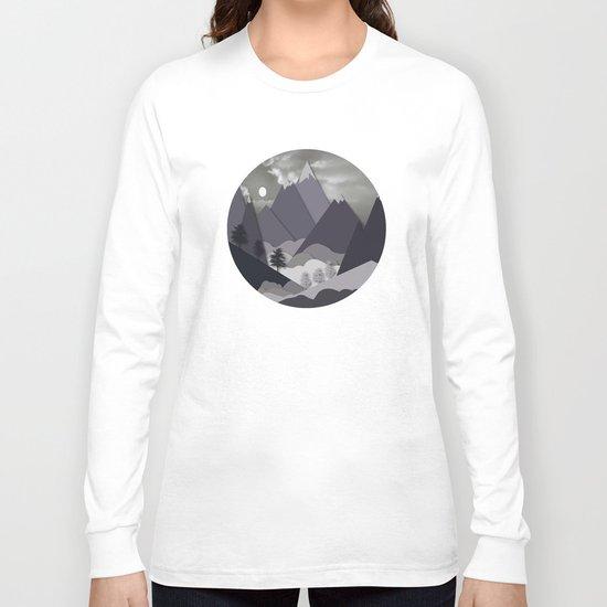 Night Mountains No. 24 Long Sleeve T-shirt