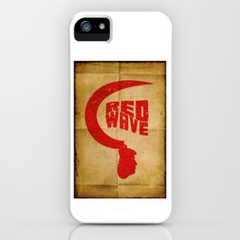 Red Wave. iPhone Case