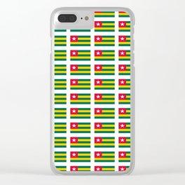 Flag of Togo -togolais,togolaise,togolese,Lomé,Sokodé,Ewe,Mina. Clear iPhone Case