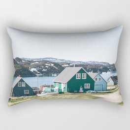 Coloured houses of Greenland Rectangular Pillow