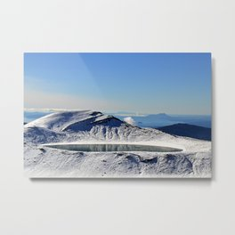Tongariro top lake Metal Print