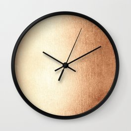 Simply Deep Bronze Amber Wall Clock