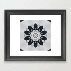 Bridal mandala Framed Art Print
