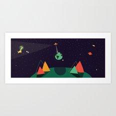 El susto del mundo Art Print