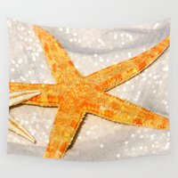 starfish Wall Tapestries featuring starfish 1 by haroulita