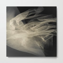 White veil background Metal Print