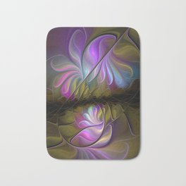 Come Together, Abstract Fractal Art Bath Mat