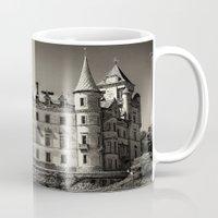 scotland Mugs featuring Dunrobin Castle Scotland by Roger Wedegis
