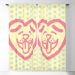 Puppy Love (Pink) Blackout Curtain