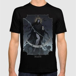 Drawlloween Tarot: XIII Death T-shirt