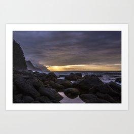 Na Pali Coast Sunset, Kauai Art Print