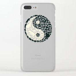 Yin-Yang Cats - FELT Clear iPhone Case