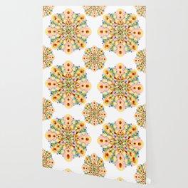 Pastel Carousel Mandala Wallpaper