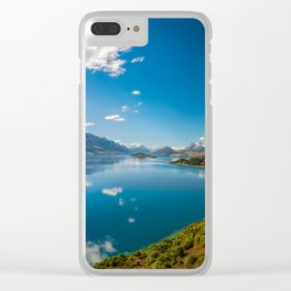 Breathtaking View from a famous scenic Lookout at Lake Wakatipu Clear iPhone Case