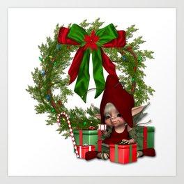 Elfin Christmas Art Print