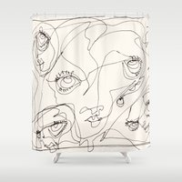 girls Shower Curtains featuring Girls by 5wingerone