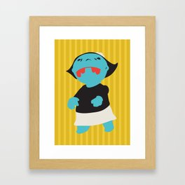 Zombie Betty Framed Art Print