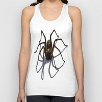 spider Tank Tops featuring SPIDER by aztosaha