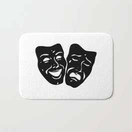 Theater Masks of Comedy and Tragedy Bath Mat