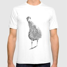 Inquisitive seagull White MEDIUM Mens Fitted Tee