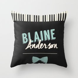 Blaine Anderson Piano Throw Pillow