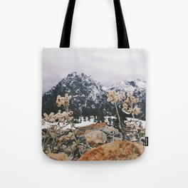 Mountains + Flowers Tote Bag