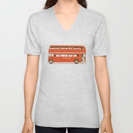 Red London Bus Unisex V-Neck