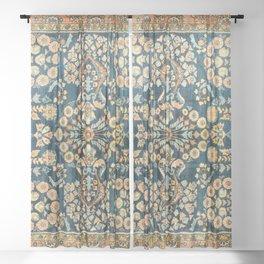 Sarouk  Antique West Persian Rug Print Sheer Curtain