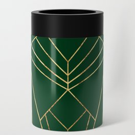 Art Deco in Gold & Green - Large Scale Can Cooler