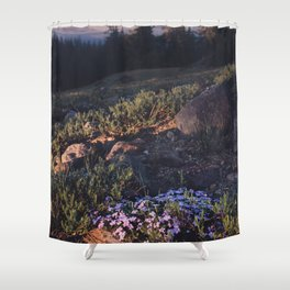 Wildflowers at Dawn - Nature Photography Shower Curtain