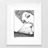 apollonia Framed Art Prints featuring asc 28 - L'invitation by From Apollonia with Love