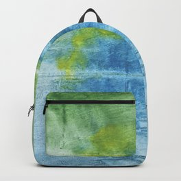 Blue green colored wash drawing Backpack