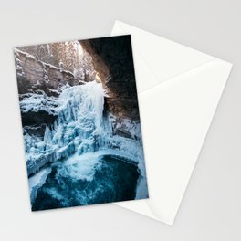 Johnston Canyon Waterfall Stationery Cards