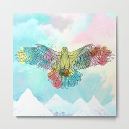Colorful Eagle Metal Print
