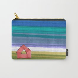 American Farm Landscape Blue Stripes 82 Carry-All Pouch