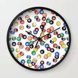 Pool Balls Wall Clock