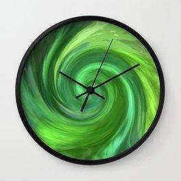 Green Twirl 1062 Wall Clock