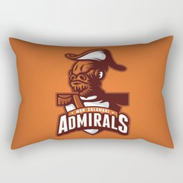 Mon Calamari Admirals on Orange Rectangular Pillow